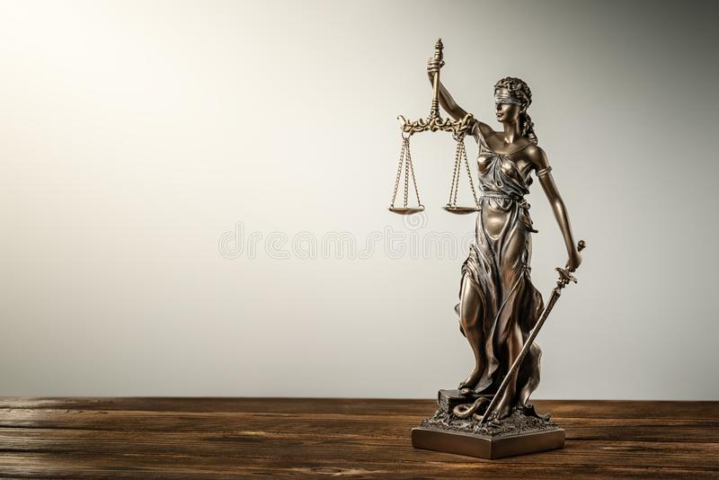 Themis Statue Justice Scales Law-Rechtsanwalt Concept stockfotos