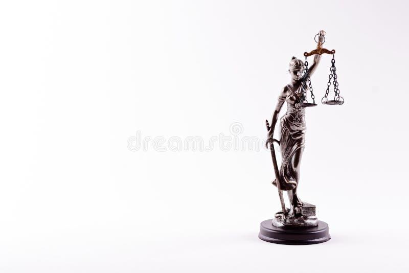 Themis - statuette de la déesse de la justice images libres de droits