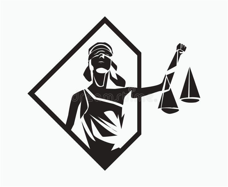 Themis symbol royalty ilustracja