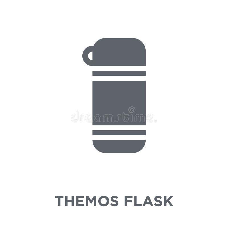 Themos flaskasymbol från vintersamling vektor illustrationer