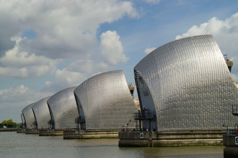Themse-Sperre lizenzfreie stockbilder