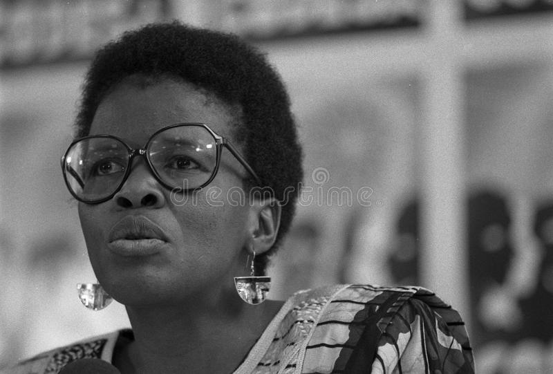 Thenjiwe Mtintso на CODESA стоковое фото