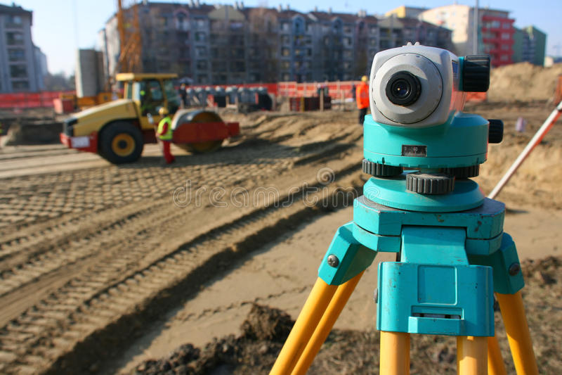 Theodolite On Site Stock Images