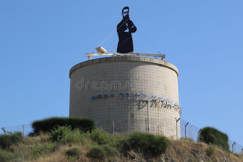 Theodor Herzl-standbeeld in Herzliya, Israël royalty-vrije stock foto's