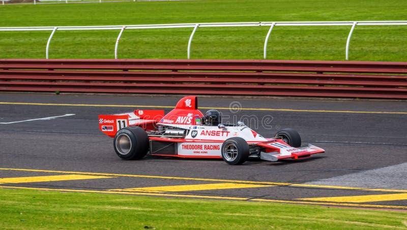 Theodore racing Formula 5000 car. At Sandown racecourse, Victoria, Australia royalty free stock photo