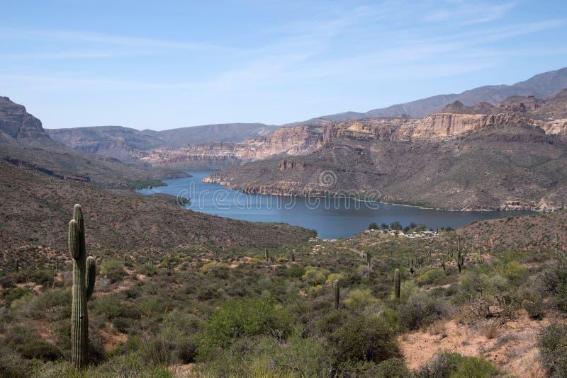 Theodore Roosevelt湖,亚利桑那,美国 免版税库存图片