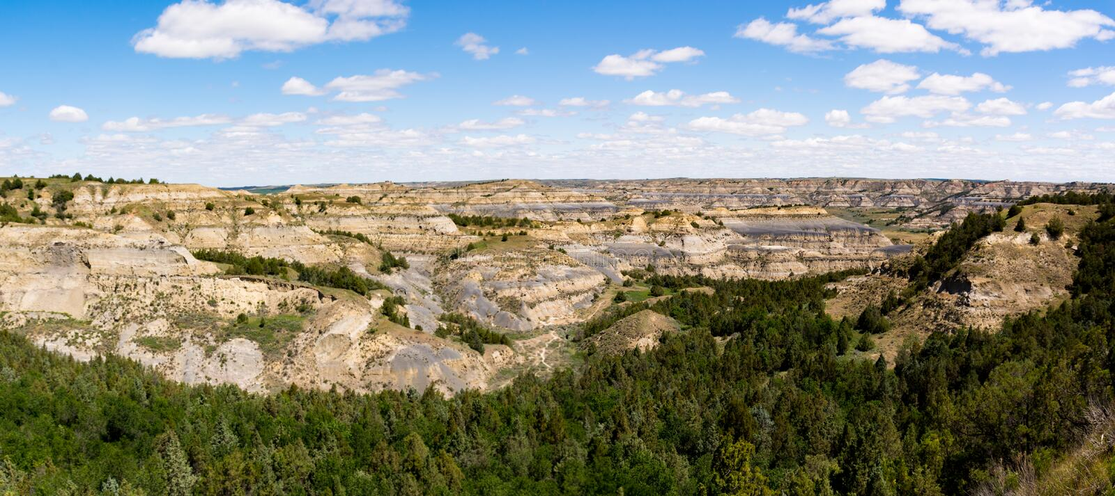 Theodore Roosevelt National Park Landscapes images stock