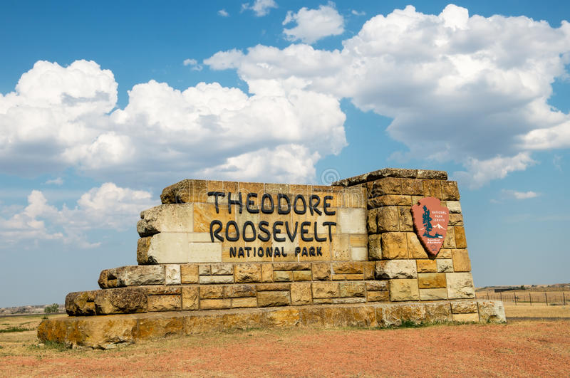 Theodore Roosevelt National Park North Dakota photographie stock libre de droits
