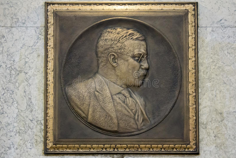 Theodore Roosevelt Plaque photos stock