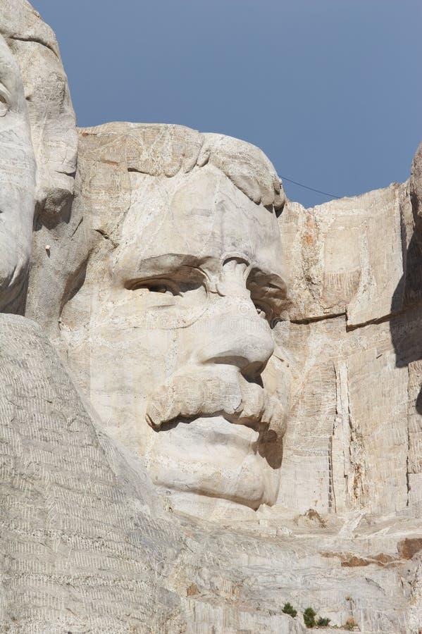 Theodore Roosevelt - zet rushmore nationaal gedenkteken op stock afbeelding
