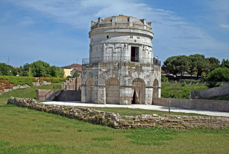 Theodoric мавзолей стоковое фото rf