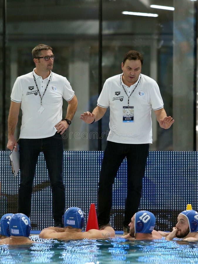 Waterpolo International Teams International Quadrangular - Hungary vs Greece stock image
