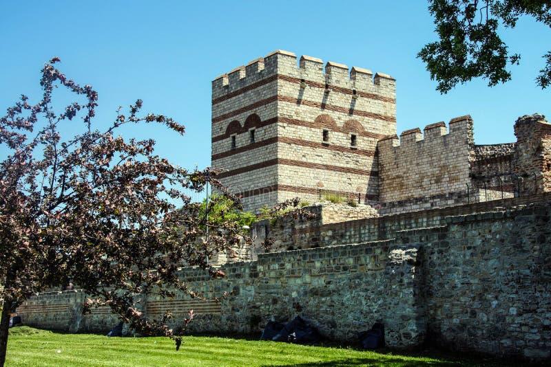 Theodosian ziemi ściany Bizantyjski imperium fotografia stock