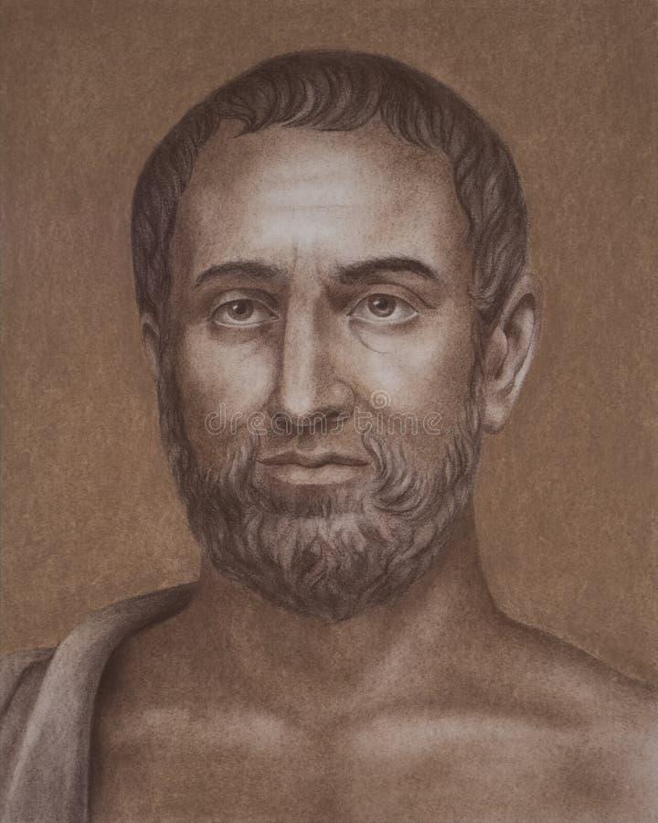 Theophrastus starożytnego grka filozof ilustracji