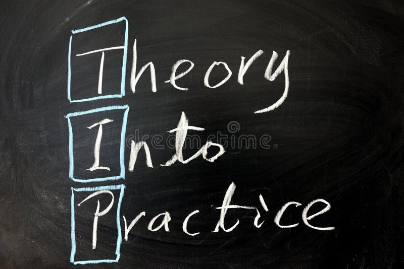 Theorie in Praxis stockbild