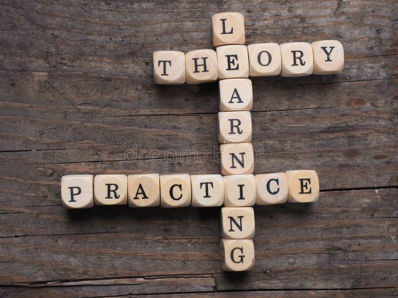 Theorie und Praxis lizenzfreie stockfotos