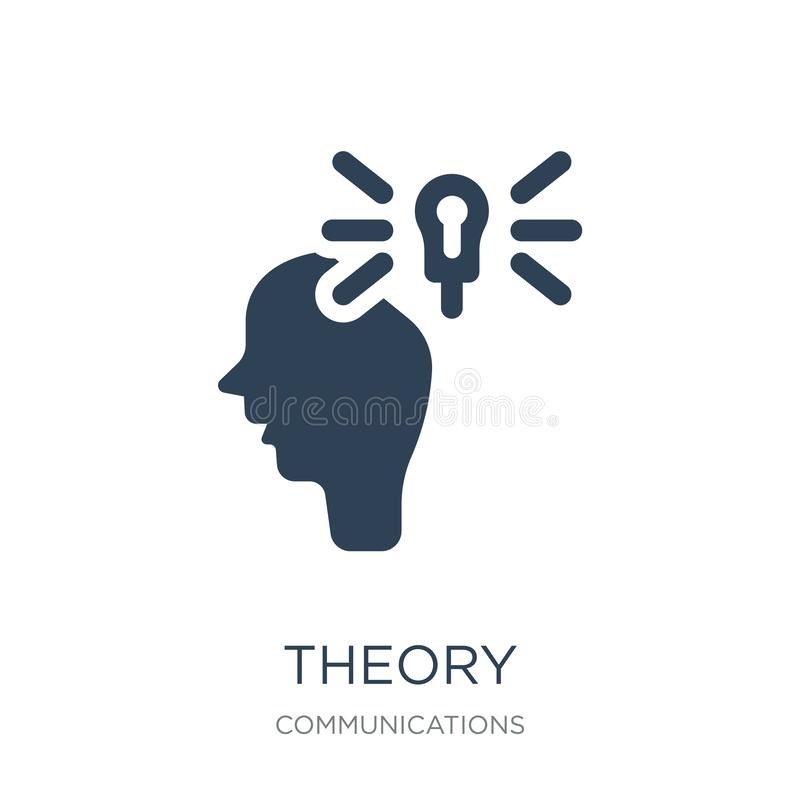 Theory icon in trendy design style. theory icon isolated on white background. theory vector icon simple and modern flat symbol for. Web site, mobile, logo, app royalty free illustration