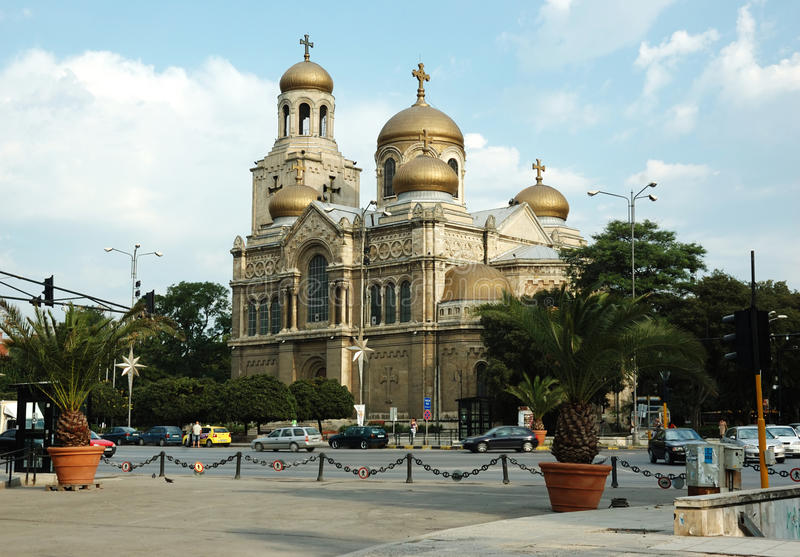 Theotokos Cathedral - most popular place in Varna royalty free stock photography
