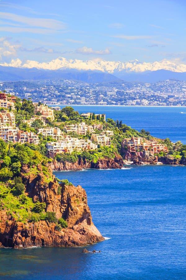 Theoule sura Mer, Francuski Riviera fotografia royalty free