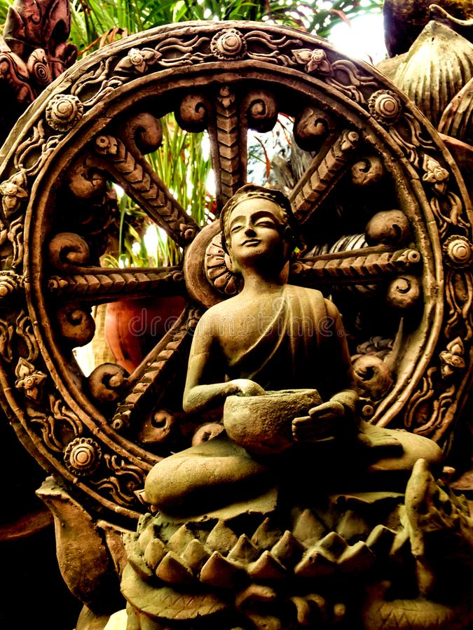 Thera Upagupta était un disciple de préposé Ananda du ` s de Bouddha images libres de droits