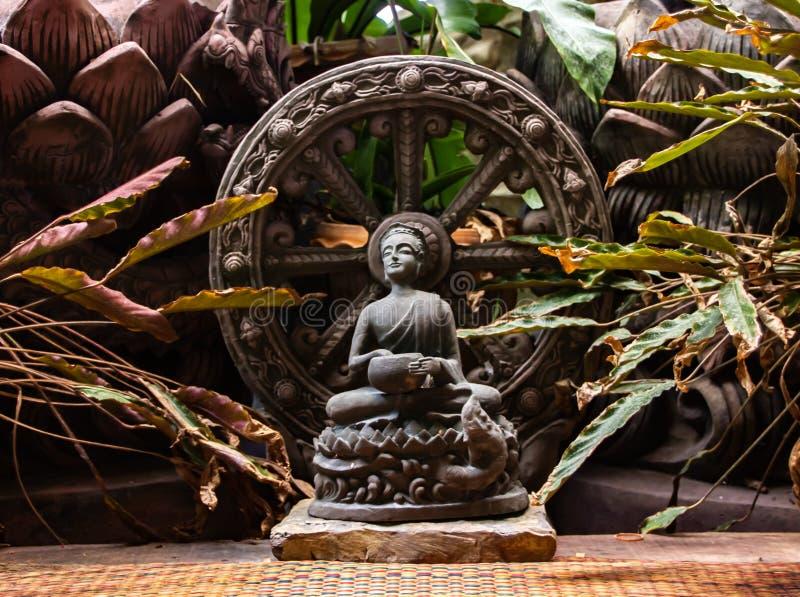 Thera Upagupta war ein Sch?ler von Buddha-` s Begleiter Ananda des eroberten Maras stockfotografie