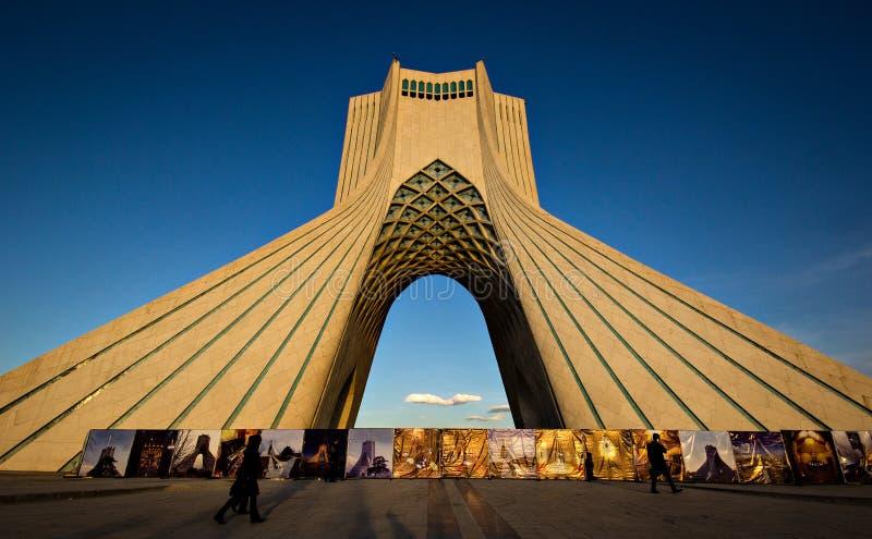 Theran torn, Iran arkivbilder