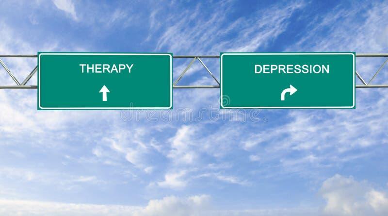 Therapie en depressie stock fotografie