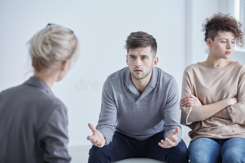 Therapie für verheiratete Paare stockbilder