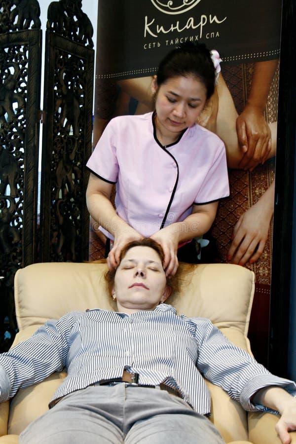 Therapist Doing Massage Editorial Stock Photo