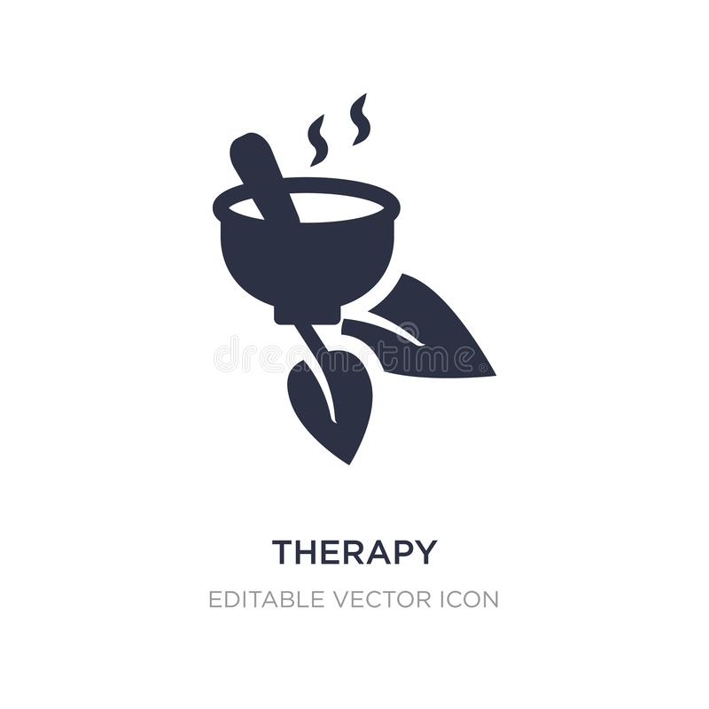 therapy icon on white background. Simple element illustration from Nature concept vector illustration