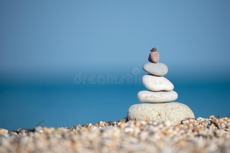 Therapy relaxation spiritual nature landscape ocean sand royalty free stock photo
