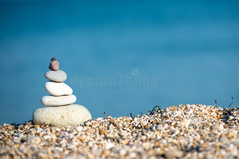 Therapy relaxation spiritual nature landscape ocean sand royalty free stock photography