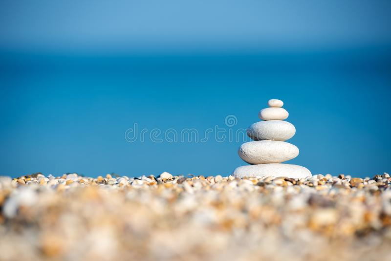 Therapy relaxation spiritual nature landscape ocean sand royalty free stock image