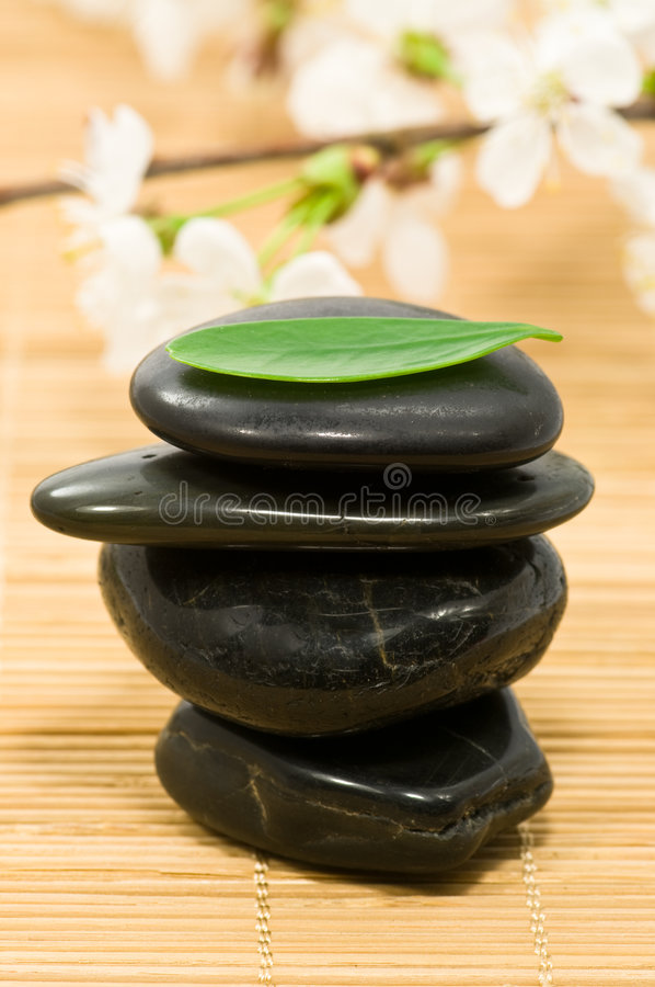 Therapy stones royalty free stock photo
