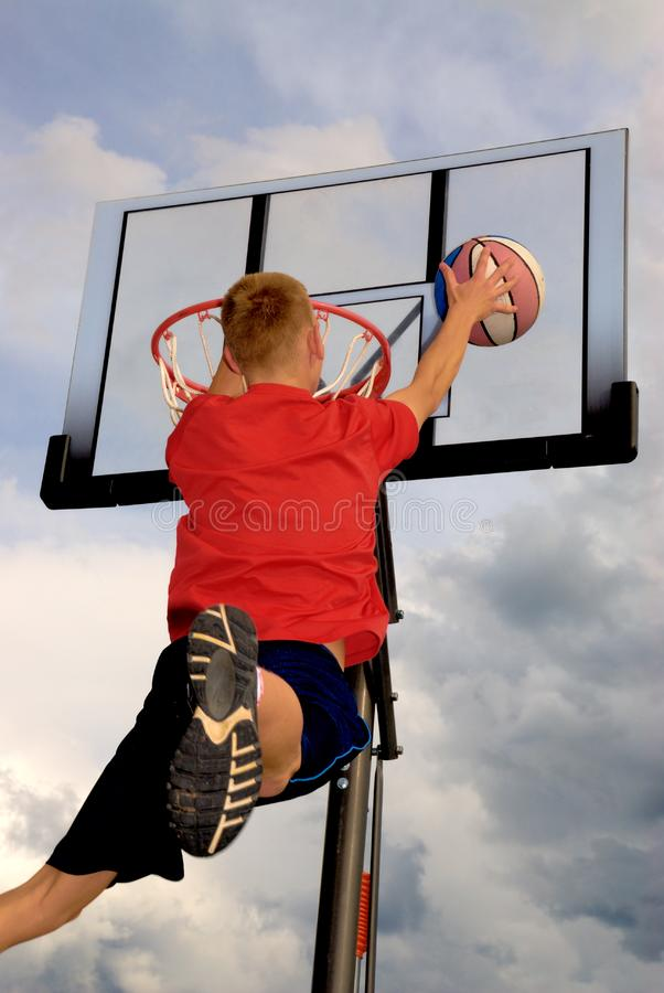 Download Almost there. stock photo. Image of hoop, happy, jump - 9675044