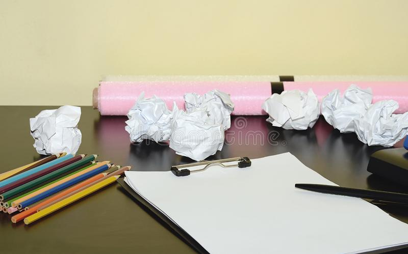The creative mess. royalty free stock image
