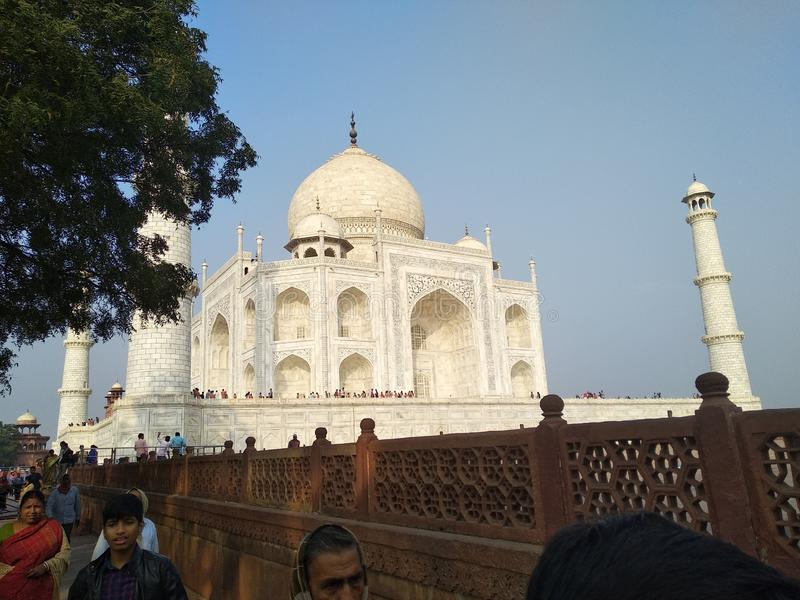 Taj mahal in agra good place for tourists stock image