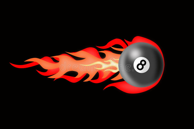 Download There Is A Billiard Ball Afire Stock Illustration - Image: 12061360