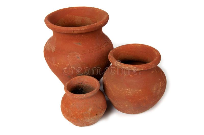 There clay pot. With isolated background stock photos