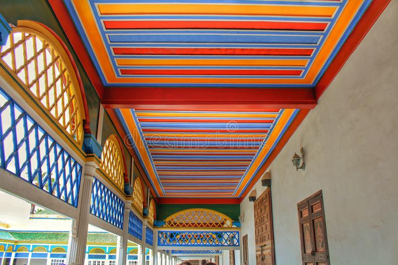 A colorful roof bahia palace royalty free stock images