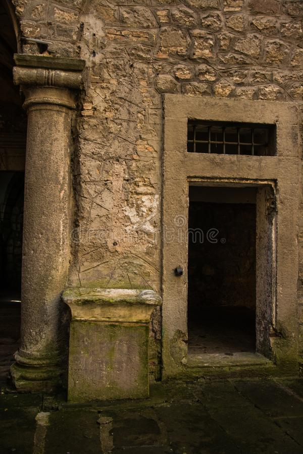 Inside the castle of soriano nel cimino royalty free stock photography