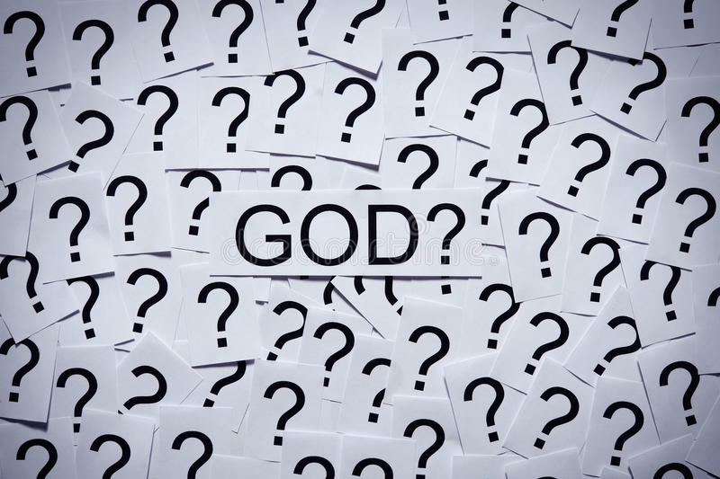 Download Is there a God? stock image. Image of confuse, label - 30583243