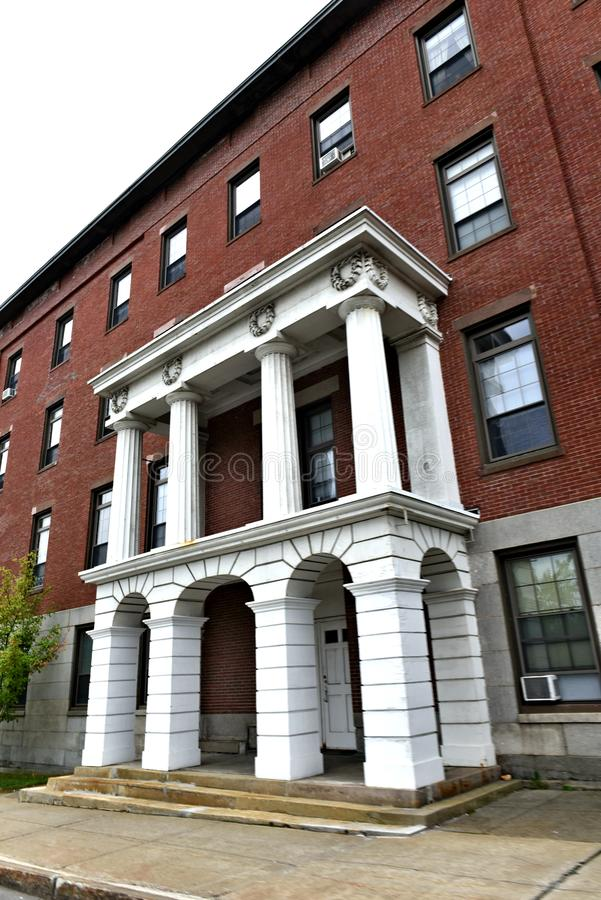 Bangor city state maine us historic architecture. There is historic places of  Bangor city of Maine state  of US . Starting from 1834 as new port of  America and stock images