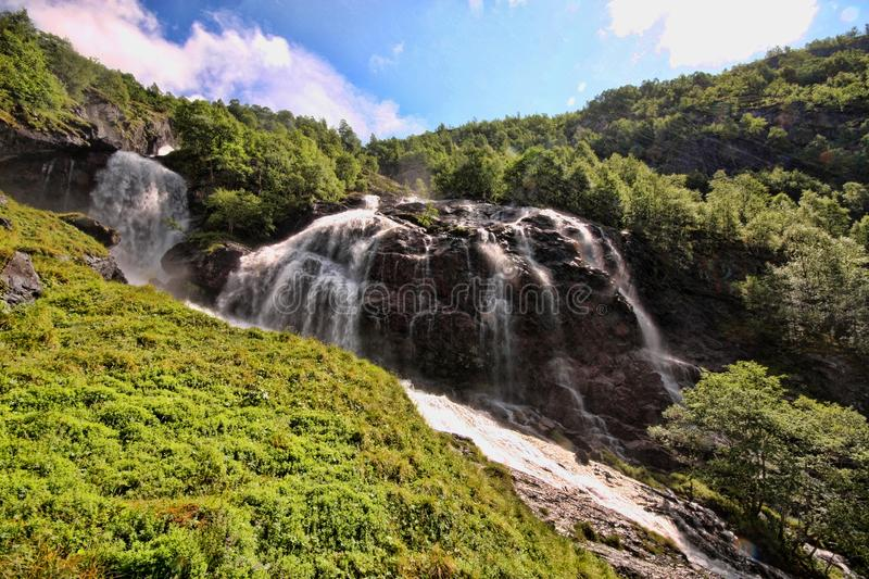 There are hundreds of beautiful waterfalls in Scandinavia royalty free stock image