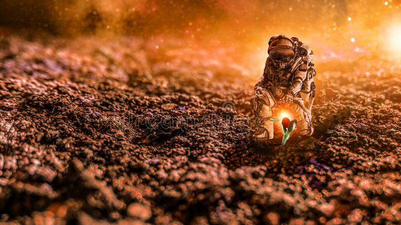 There Is Life On Other Planet. Mixed Media Stock Image ...