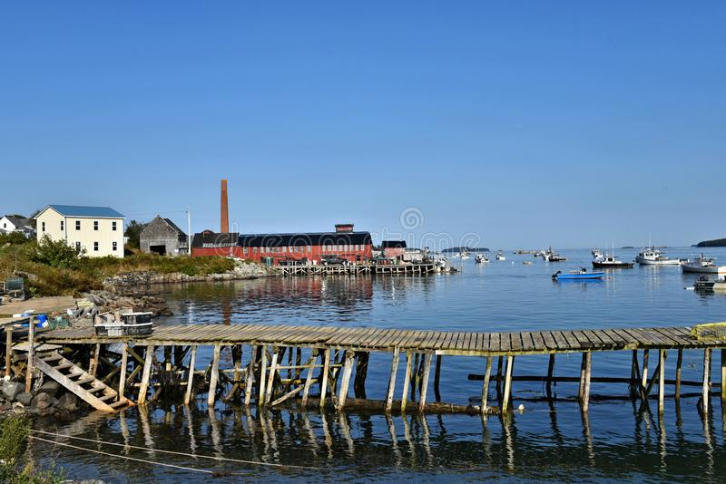 Lobstering and fishing in jonesport  maine us royalty free stock images