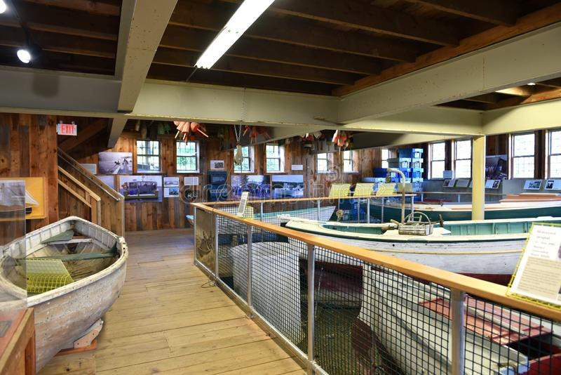 Lobstering maine coast usa maritime museum exposition royalty free stock image
