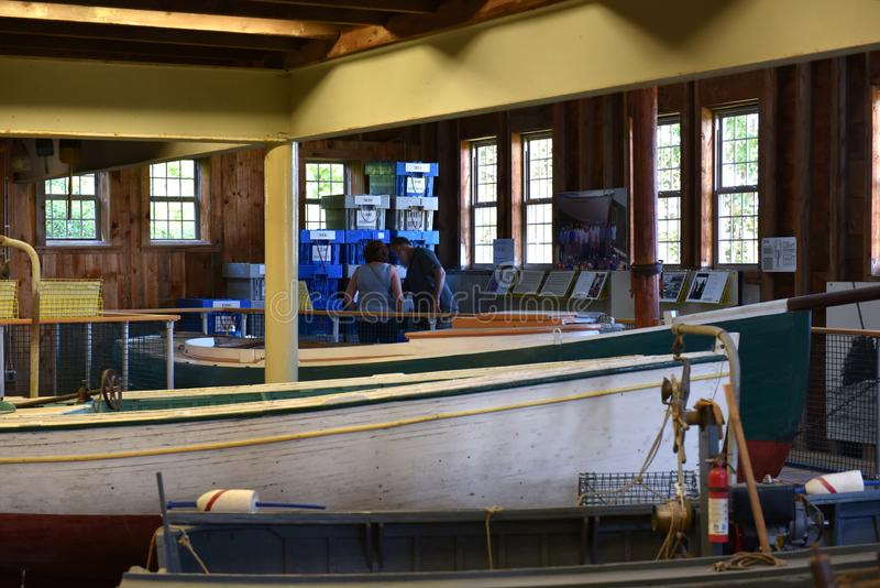 Lobstering maine coast usa maritime museum exposition royalty free stock images