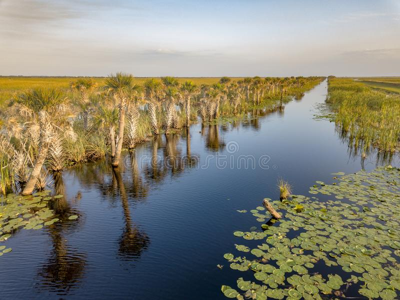A Waterway in Rural Brevard County, Florida. There are many waterways and canals in the wetland areas of brevard county florida where boaters use the routes to stock photos