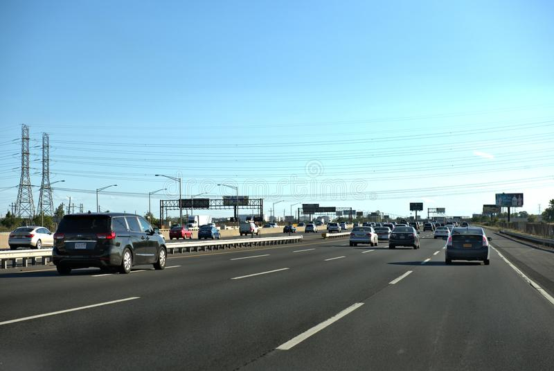 New jersey state usa interstate roads system royalty free stock photos